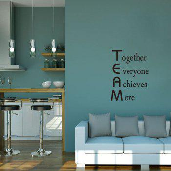 DSU Explosion Models Selling English Personalized Combination Wall Stickers Children Room Bedroom Decorative Stickers - BLACK 57X51.4CM