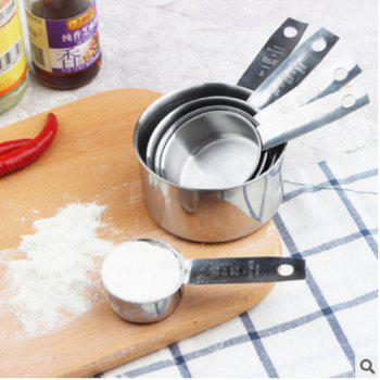 Kitchen Accessory Stainless Steel Measuring Cups 5pcs - STAINLESS STEEL