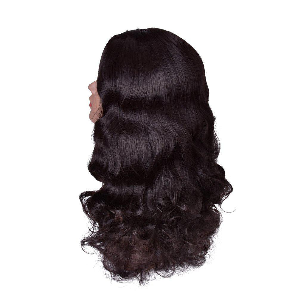 Hairyougo Hairyougo 28 Inch High-temperature Fiber Wavy Long Hair for Women Party Halloween Heat Resistant Full Wigs - BLACK 28INCH