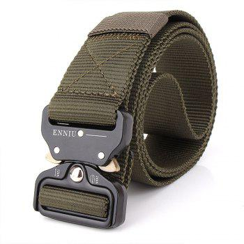 Outdoor Safety Belt Buckle Belt Training Speed Dry Pure Nylon Belt - ARMYGREEN ARMYGREEN