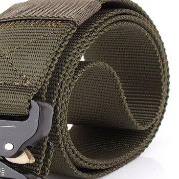 Outdoor Safety Belt Buckle Belt Training Speed Dry Pure Nylon Belt -  ARMYGREEN