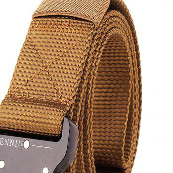 Outdoor Safety Belt Buckle Belt Training Speed Dry Pure Nylon Belt - BROWN