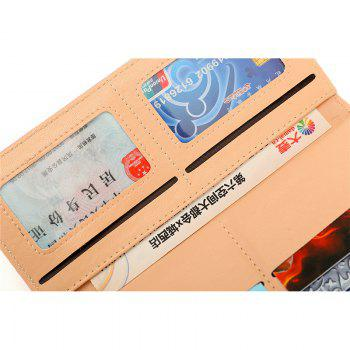 New Fashion Soft PU Women Wallet Long Thin Multiple Cards Holder Clutch Bags Fashion Female Coin Purse - YELLOW