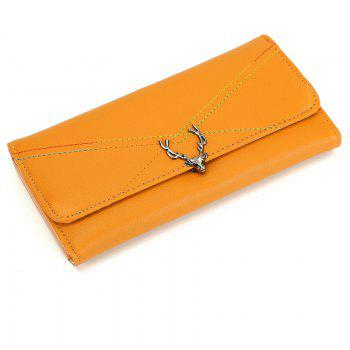 New Fashion Soft PU Women Wallet Long Thin Multiple Cards Holder Clutch Bags Fashion Female Coin Purse - YELLOW YELLOW