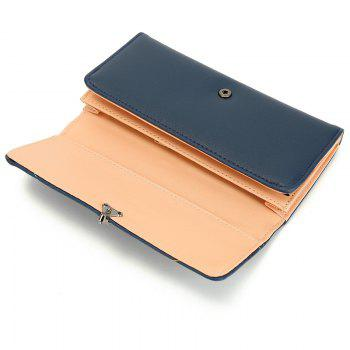 New Fashion Soft PU Women Wallet Long Thin Multiple Cards Holder Clutch Bags Fashion Female Coin Purse - DEEP BLUE