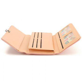 New Fashion Soft PU Women Wallet Long Thin Multiple Cards Holder Clutch Bags Fashion Female Coin Purse - PINK
