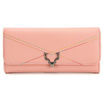New Fashion Soft PU Women Wallet Long Thin Multiple Cards Holder Clutch Bags Fashion Female Coin Purse - PINK PINK