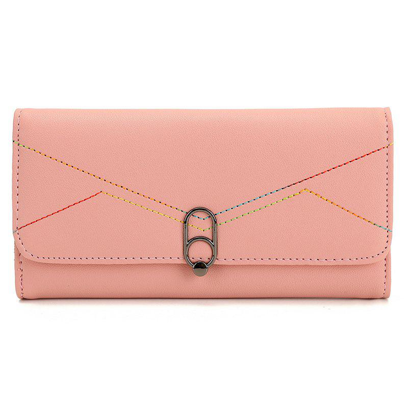 Fashion Lady Women Wallets Bag Popular Purse Long PU Handbags Card Holder - PINK