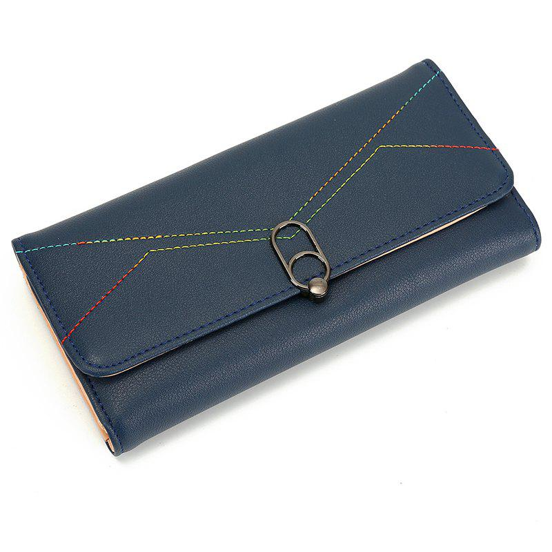 Fashion Lady Women Wallets Bag Popular Purse Long PU Handbags Card Holder - DEEP BLUE