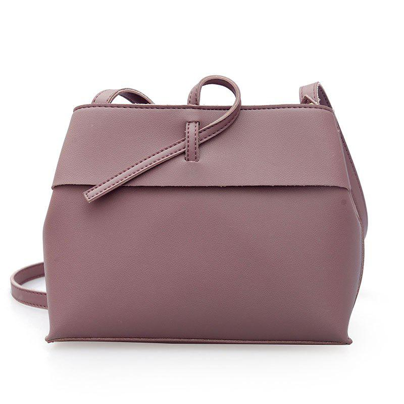 Simple Trapezoidal Shoulder Messenger Bag - PURPLE