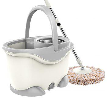 Stainless Steel Household Free Hand Wash Mop Mop Rotation -  WHITE