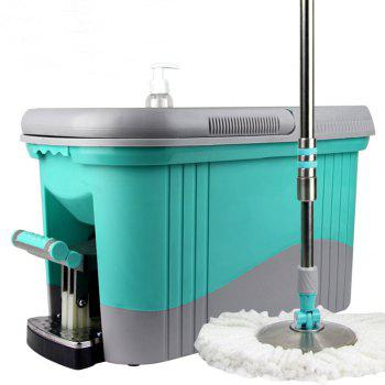 Stainless Steel Hand Rotary Mop Free Hand Wash Mop - GREEN