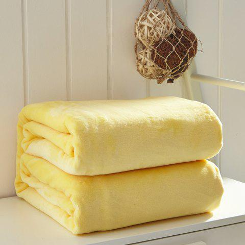 Thin Quilt air Conditioning Bed Nap Single Double Thickening Blanket - YELLOW 120CM X 200CM