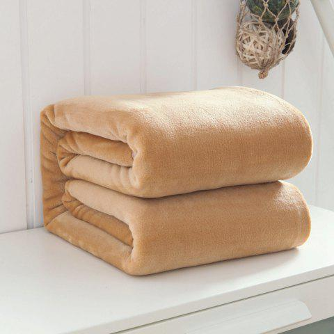 Thin Quilt air Conditioning Bed Nap Single Double Thickening Blanket - KHAKI 120CM X 200CM