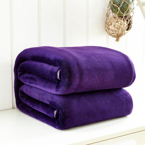 Thin Quilt air Conditioning Bed Nap Single Double Thickening Blanket - PURPLE 200CM X 230CM