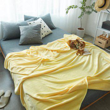 Thin Quilt air Conditioning Bed Nap Single Double Thickening Blanket - YELLOW YELLOW