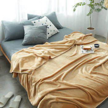Thin Quilt air Conditioning Bed Nap Single Double Thickening Blanket - KHAKI KHAKI