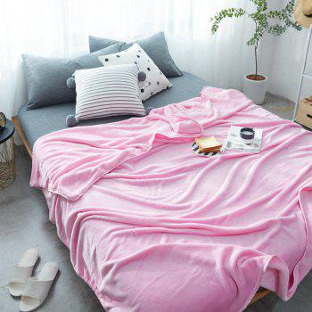 Thin Quilt air Conditioning Bed Nap Single Double Thickening Blanket - PINK PINK