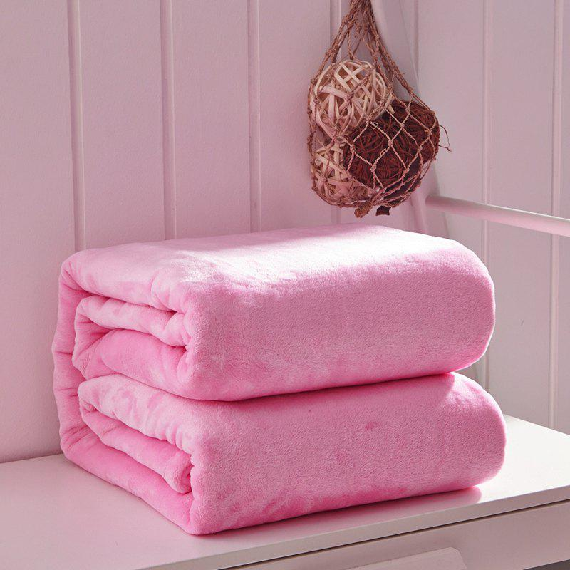 Thin Quilt air Conditioning Bed Nap Single Double Thickening Blanket - PINK 120CM X 200CM