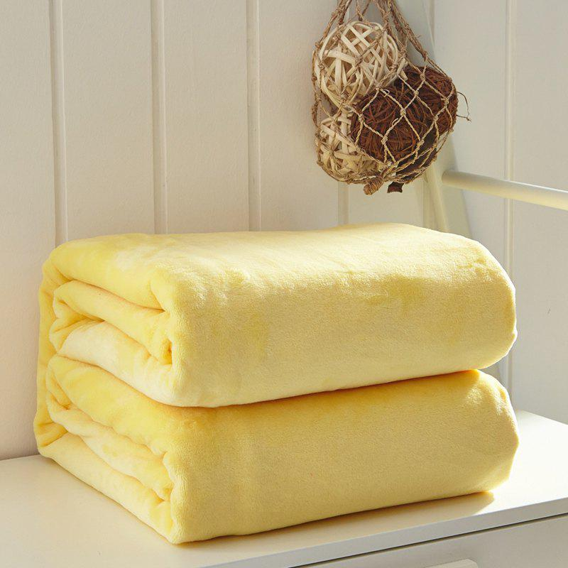 Thin Quilt air Conditioning Bed Nap Single Double Thickening Blanket - YELLOW 180CM X 200CM