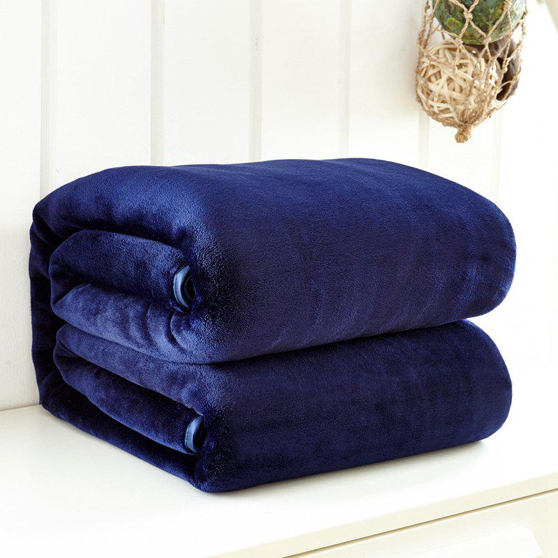 Thin Quilt air Conditioning Bed Nap Single Double Thickening Blanket - CERULEAN 200CM X 230CM