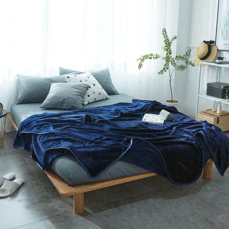 Thin Quilt air Conditioning Bed Nap Single Double Thickening Blanket - CERULEAN 120CM X 200CM