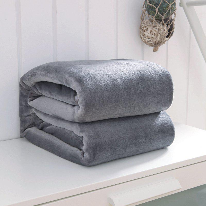 Thin Quilt air Conditioning Bed Nap Single Double Thickening Blanket - GRAY 120CM X 200CM