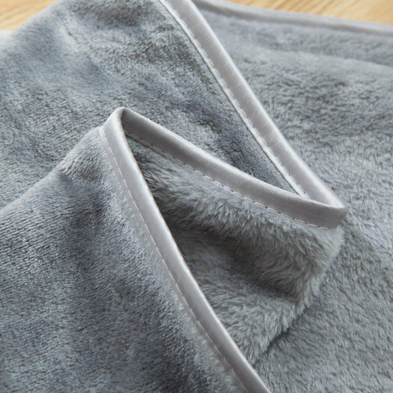 Thin Quilt air Conditioning Bed Nap Single Double Thickening Blanket - GRAY 150CM X 200CM