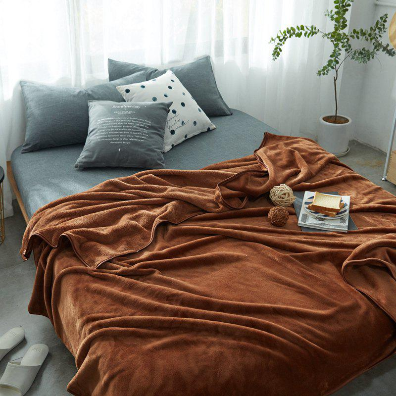 Thin Quilt air Conditioning Bed Nap Single Double Thickening Blanket - COFFEE 180CM X 200CM