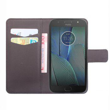 Case for Moto G5s Leather Luxury Wallet FLip Card Slots Holder Stand Case Cover - BROWN