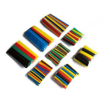 328PCS 2:1 Polyolefin Shrinking Assorted Heat Shrink Tube Wrap Wire Cable Insulated Sleeving Tubing 5 Colors 8 Sizes Set - COLOUR