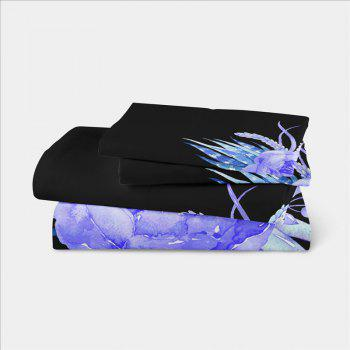 Imitation Embroidered and Painted Series Pattern Leaf Design Fresh and Comfortable High Grade Bedding set - BLACK TWIN
