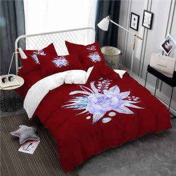 Imitation Embroidered and Painted Series Pattern Leaf Design Fresh and Comfortable High Grade Bedding set - COPPER COPPER