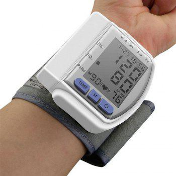 Fully Automatic Wrist Digital Blood Pressure Cuff Monitor - WHITE