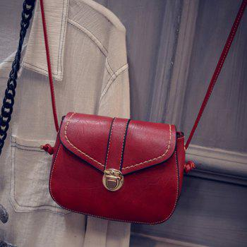 Women's Crossbody Bag Solid Mini Retro Metal Hasp New Bag - RED