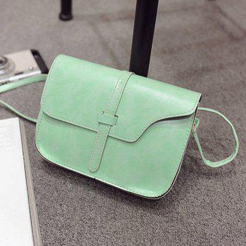 Women's Crossbody Bag Vintage Solid Belt Ornament Mini Bag - GREEN