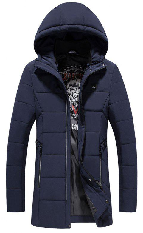 Fashion Warm Fashion Coat - DEEP BLUE 4XL