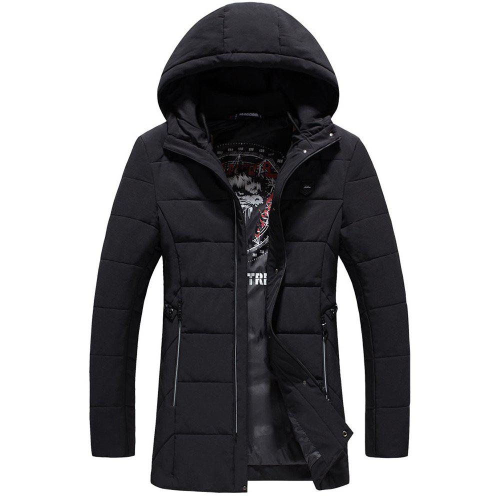 Fashion Warm Fashion Coat - BLACK 4XL