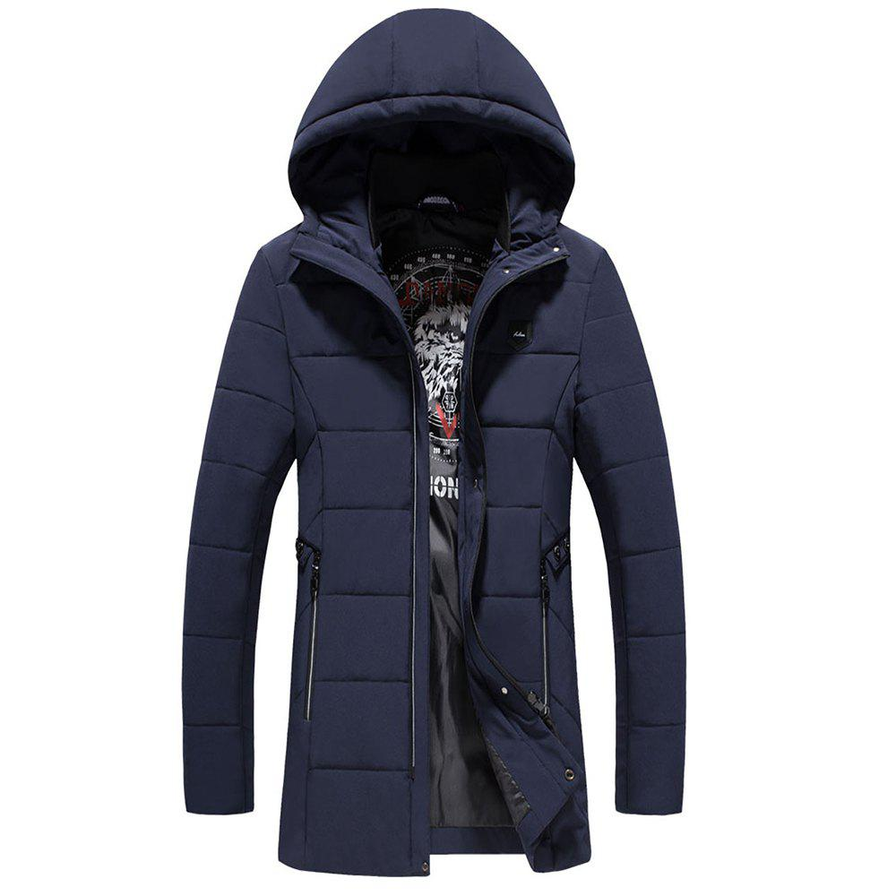 Fashion Warm Fashion Coat - DEEP BLUE 3XL