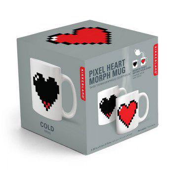 Pixel Heart Heat Changing Mug - WHITE