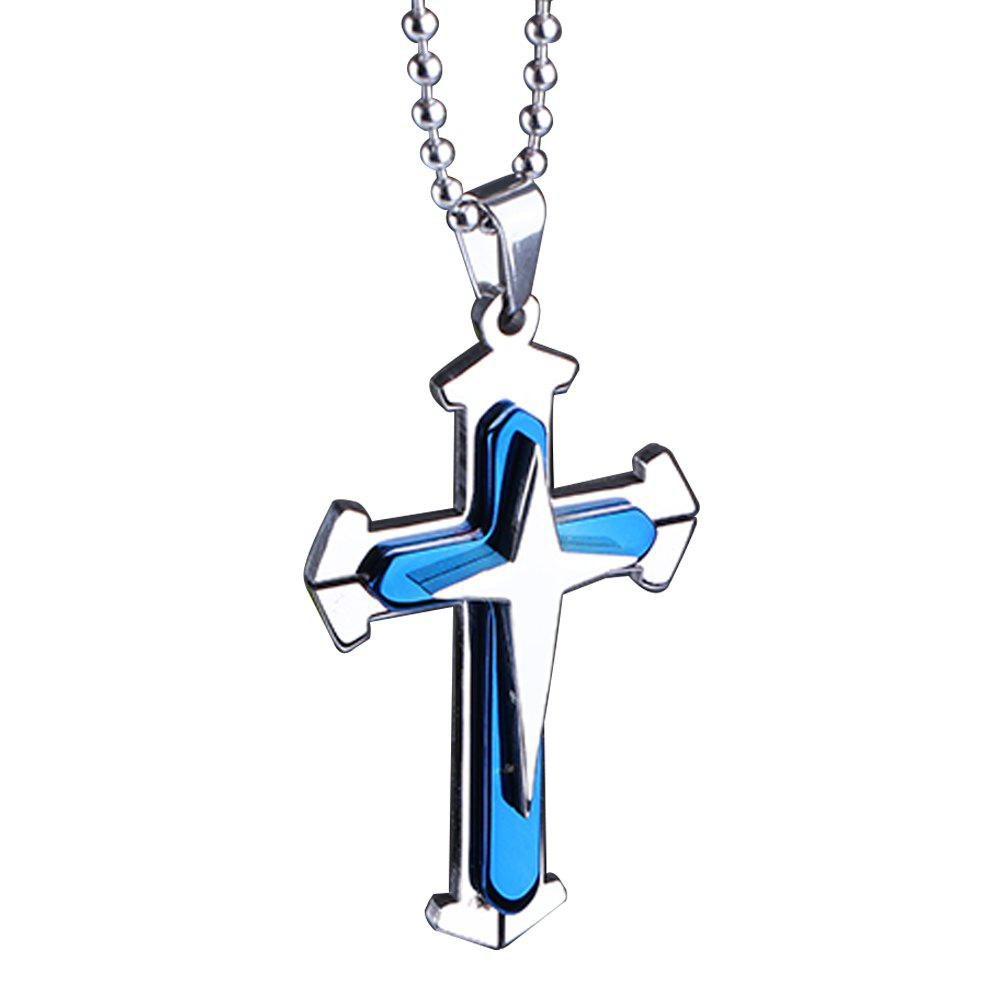 Stainless Steel Cross Pendant Mens Necklace Chain Accessories creative football bar glass beer cup