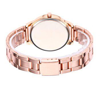 Khorasan Swan Dial Women'S Steel Band Quartz Watch with Drill - ROSE GOLD
