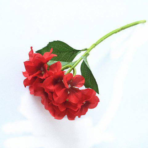 5 PCS Simulation Flower Artificial Flower Single Branch Christmas Wedding Decoration Table Accessories - RED