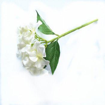 5 PCS Simulation Flower Artificial Flower Single Branch Christmas Wedding Decoration Table Accessories - WHITE WHITE