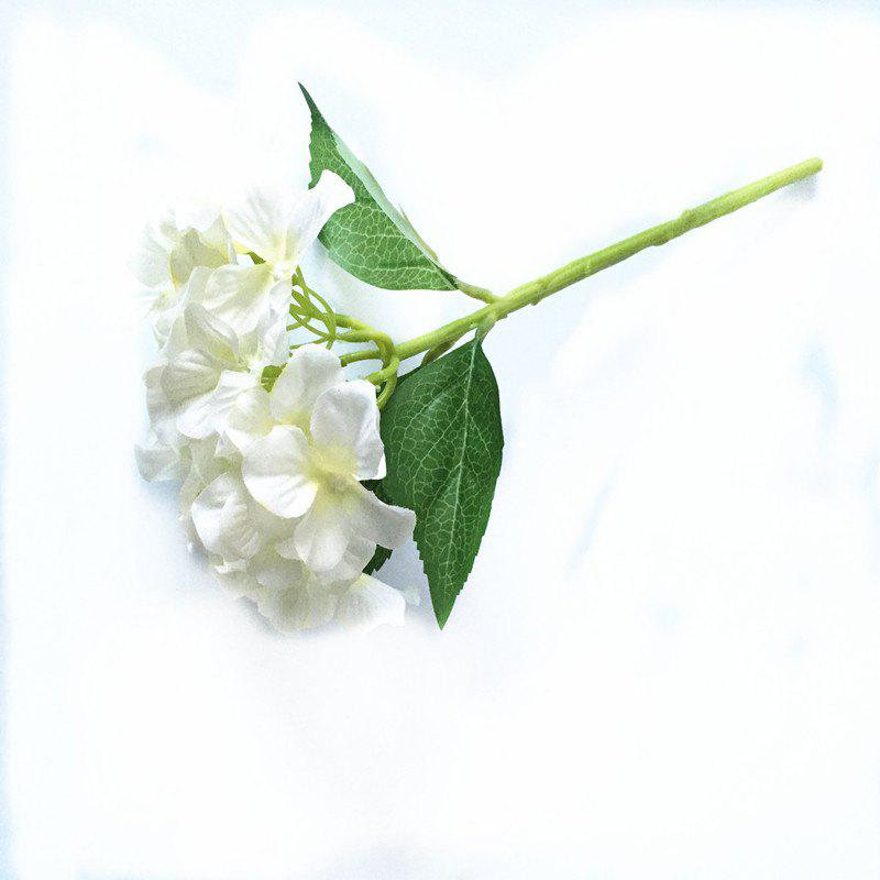 5 PCS Simulation Flower Artificial Flower Single Branch Christmas Wedding Decoration Table Accessories - WHITE