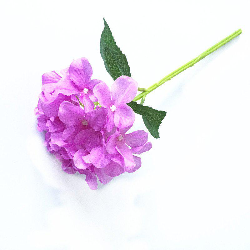 5 PCS Simulation Flower Artificial Flower Single Branch Christmas Wedding Decoration Table Accessories - PURPLE
