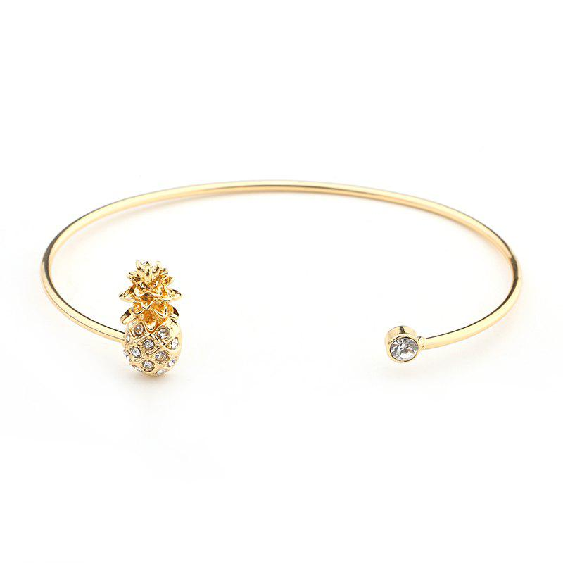 States Trend of The New Diamond Pineapple Bracelet - GOLDEN