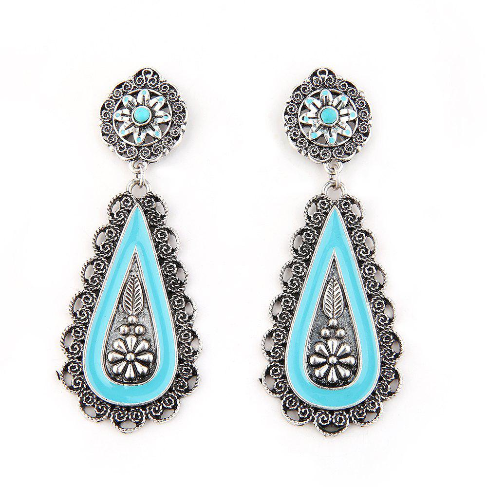 2018 boucles d 39 oreilles tendance new turquoise silver in. Black Bedroom Furniture Sets. Home Design Ideas