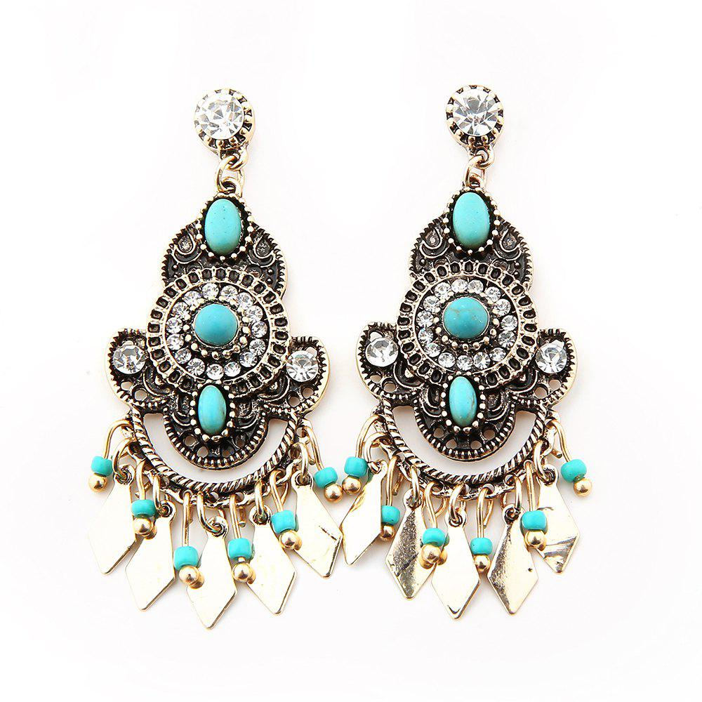 Boucles d'Oreilles Diamant Turquoise New Ear Nails - Antique Brun