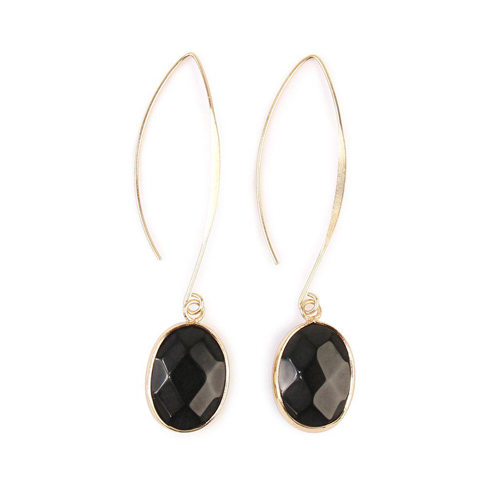 Simple and Elegant Inverted U-Shaped Earrings Personality Irregular Costume Jewelry - BLACK